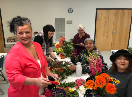 60+ Logan Community Center Flower Workshop