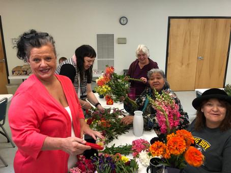 60+ Logan Community Center Flower Workshop