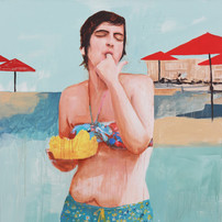 """Pool Painting No. 1, acrylic on canvas, 72"""" x 56"""", 2020"""
