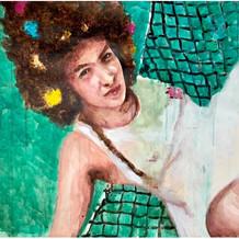 "Jana, acrylic on paper, 21"" x 30"", 2020"
