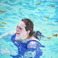 """Pool Painting No. 5, acrylic on canvas, 46"""" x 37"""", 2020"""