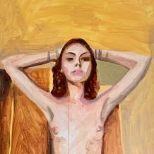 """Gillian, acrilyc on canvas, 24"""" x 18"""", 2020"""