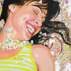 "Analida, The Fantasies, Acrylic on Canvas, 48"" x 60"", 2010"