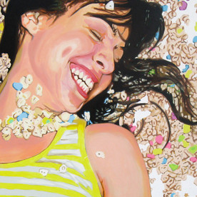 "Analida, The Fantasies, Acrylic on Canvas, 48"" x 60"", 2010"