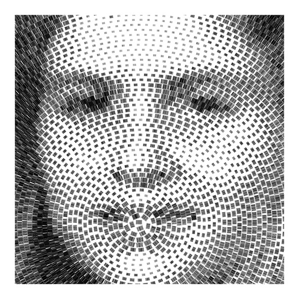 Barcode Maria Raquel Cochez, collaboration by Maria Raquel Cochez and Scott Blake, inkjet print on paper 58″ x 58″, scanner, 30 stop motion animations, 2012
