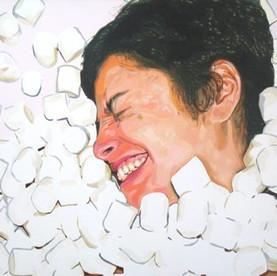 """Natalie, The Fantasies, Acrylic on canvas, 48"""" x 60"""", 2010"""