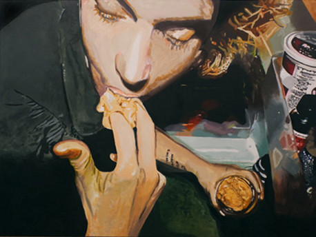 """Peanut Butter, The Binges, Acrylic on canvas, 60"""" x 80"""", 2007"""