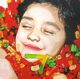 "Nadia, The Fantasies, acrylic on canvas, 48"" x 60"", 2010"