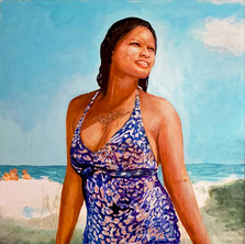 "Evangeline, acrylic on canvas, 72"" x 54"", 2019"