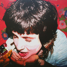 """Self Portrait with Fruit Pastry, Acrylic on canvas, 48"""" x 60"""", 2009"""