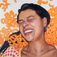 "Carol with Meneitos, The Fantasies, 45"" x 60"", 2012"