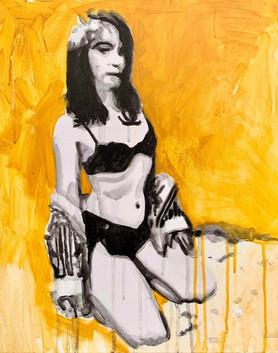 "Elis (São Paulo, Brazil), acrylic on canvas, 20"" x 16"", 2020"