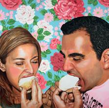 "Edna y Keke, Acrylic on canvas, 48"" x 60"", 2012"