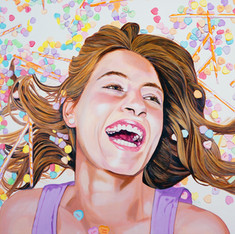 "Tessie, Acrylic on canvas, 36"" x 48"", 2012"