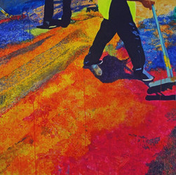 """Semana Santa No. 2, acrylic on canvas, 45"""" x 64"""", 2017"""