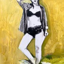 "Elis No. 2, acrylic on canvas, 20"" x 16"", 2020"