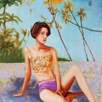 "Girls No. 12, acrylic on canvas, 54"" x 56"", 2019"