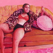 """Girls in PinkNo. 8, acrylic on canvas, 56"""" x 72"""", 2020"""