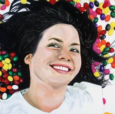 "Bea, The Fantasies, Acrylic on canvas, 48"" x 60"", 2011"
