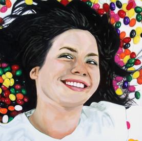 """Bea, The Fantasies, Acrylic on canvas, 48"""" x 60"""", 2011"""