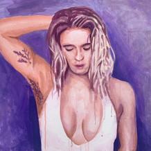 "Lizzy, acrylic on canvas, 24"" x 28"", 2020"