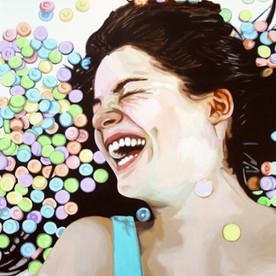 """Emily, The Fantasies, Acrylic on canvas, 48"""" x 60"""", 2011"""