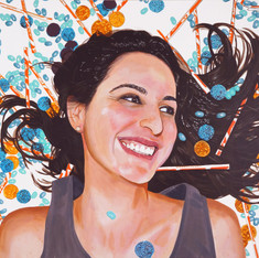 "Carolina, Acrylic on canvas, 36"" x 48"", 2012"