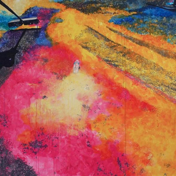 """Semana Santa No. 3, acrylic on canvas, 45"""" x 64"""", 2018"""