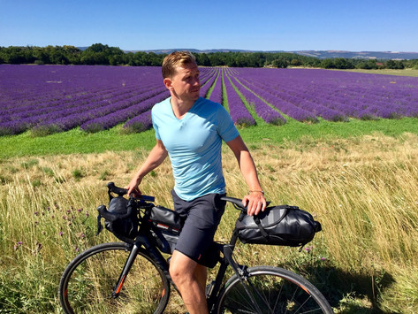 Pedalling past the purples of Provence