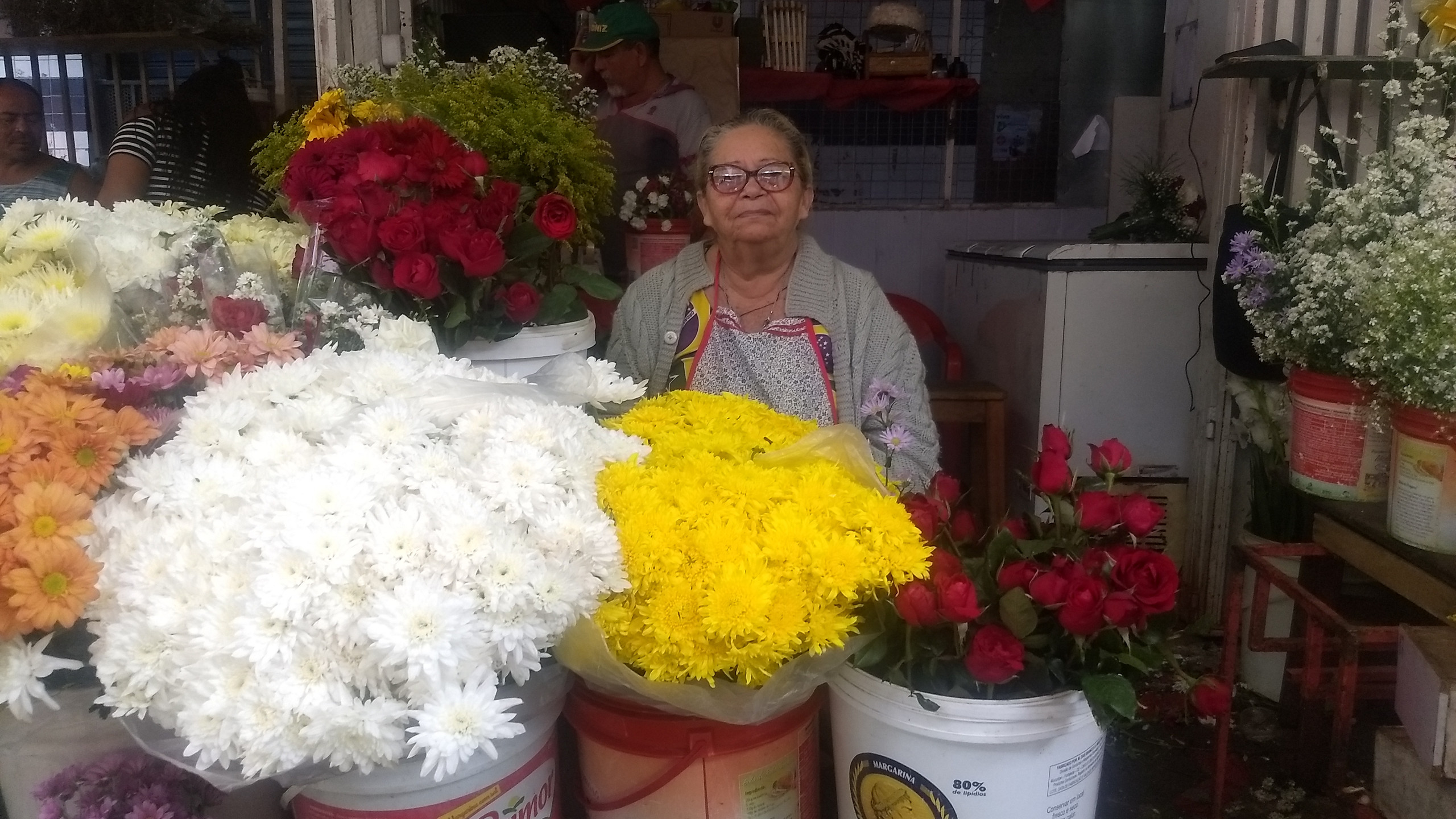 Dona Maria do Carmo, 68 anos.