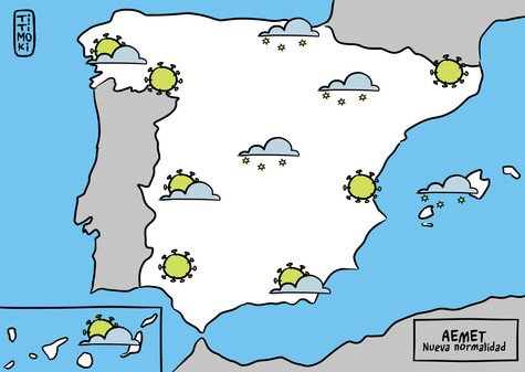 Mapa meteorológico AEMET nueva normalida