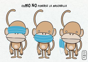CoMO NO ponerse la mascarilla - TITIMOKI
