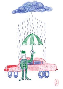 """Ilustración """"Llueve sobre mojado"""""""