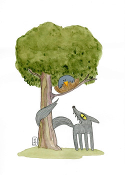 Ilustración fábula infantil