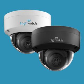 2 x Highwatch IP - IR dome camera, IP 67 (ook in zwart)