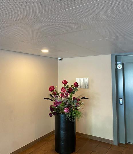 In entree hal en voor de lift toezicht