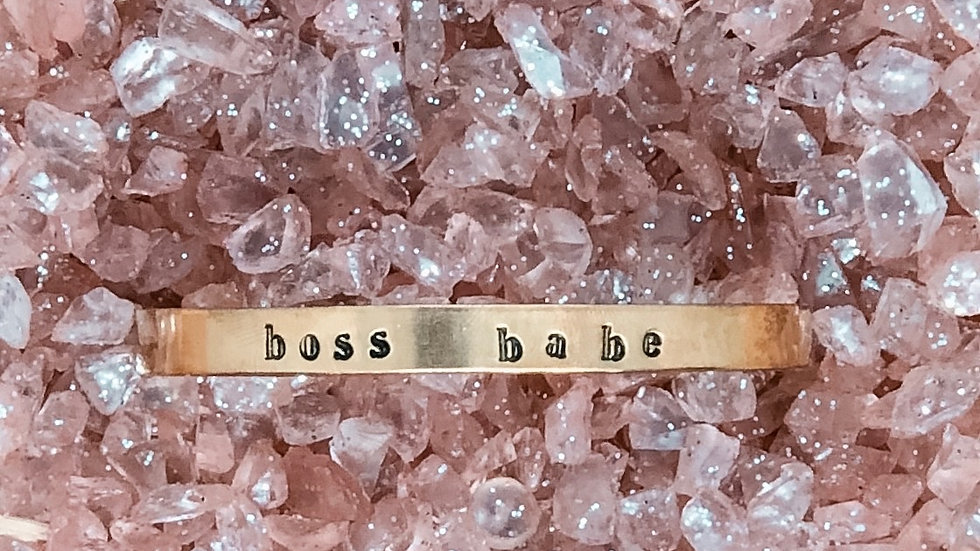Boss Babe Stamped Cuff Bracelet