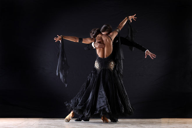 Latino Dancers in Ballroom