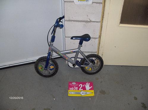 191216 Bicicleta azul y gris de niño