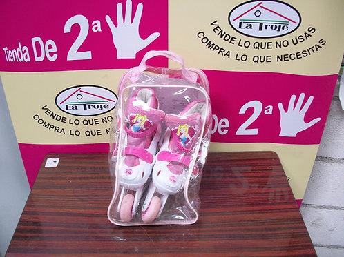 180417 Patines en linea barbie numero 30-33 precio