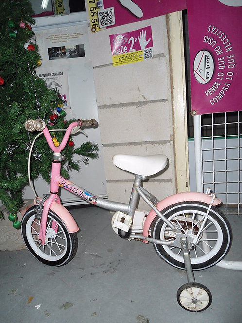 Bicicleta bh rosa y gris