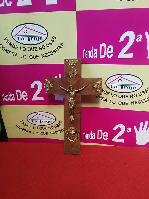 310519 crucifijo madera metal