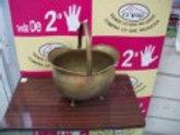 00417 Florero de bronce grande