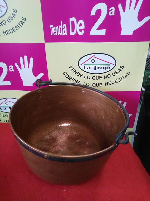 280120 CALDERO DE COBRE 36X21de alto