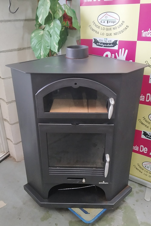 261020 estufa de rincon leña con horno