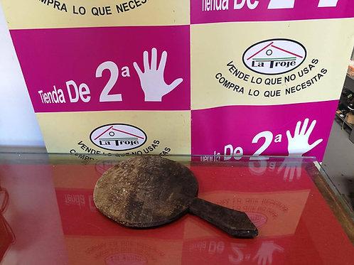 240718 TAPA TINAJA DE UNA PIEZA DE MADERA