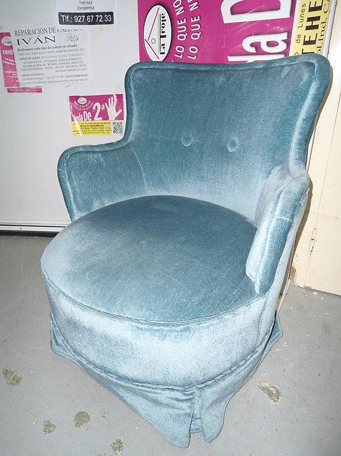 Sofa descalzador azul