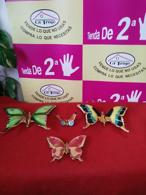280120 mariposas platos porcelana colgar