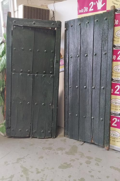 170920 puerta rustica antigua dos hojas ventana