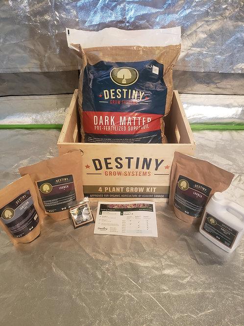 Destiny organics 4 plant kit